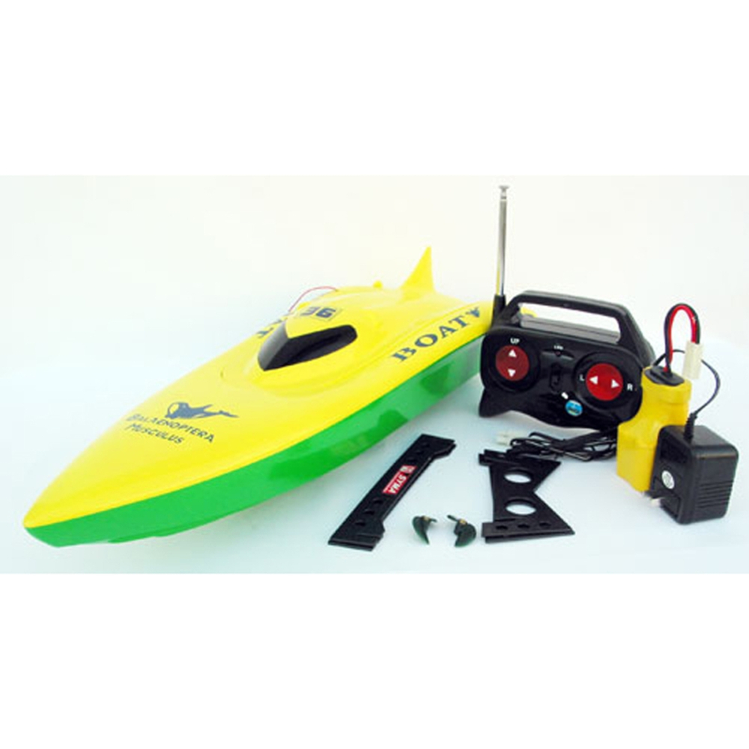 "23"" Balaenoptera Musculus Racing Boat Radio Control Ship High Speed Green Yellow (Gift Idea) by"