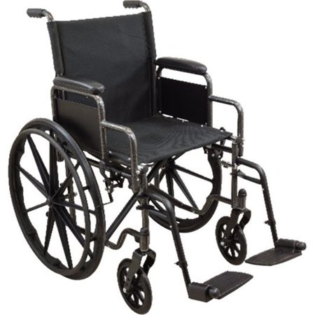 American Standard Wheelchair - Roscoe Medical WC11616DS 16 x 16 in. K1 Swing Away Standard Wheelchair
