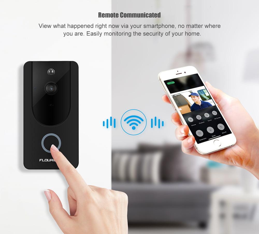Wireless ZC-IP09 Wifi Video/Audio Doorbell with Night Verion