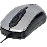 Manhattan 179423 Edge Optical USB Mouse, Gray