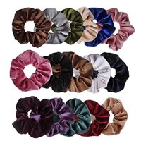 16 Pcs Velvet Elastic Hair Bands Scrunchy For Women Or Girls Hair Accessories