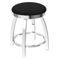 Holland Bar Stool Co Misha Swivel Dining Stool with Faux Leather Seat