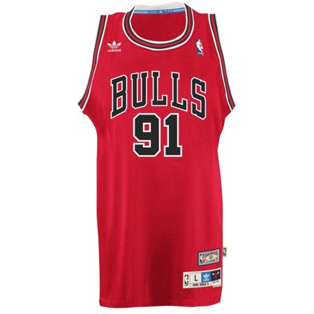 Dennis Rodman Chicago Bulls Adidas NBA Throwback Swingman Jersey Red by