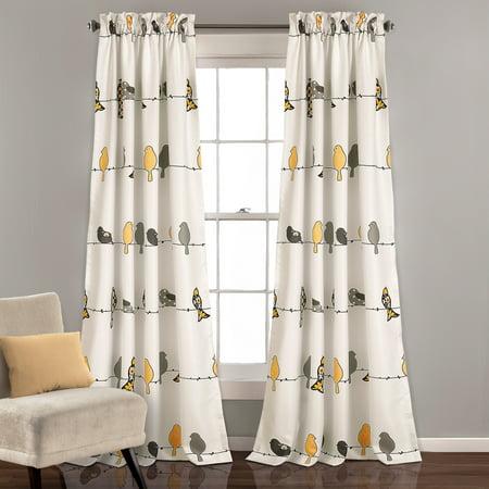 Rowley Birds Room Darkening Window Curtain (Asian Bird Panels)