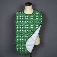 Shamrock Check Adult Bib - Covered with Care