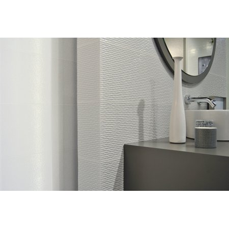 MTO0450 Modern Large Format 10X30 Gray Glossy Pattern Porcelain Wall Tile