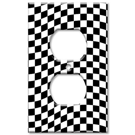 Art Plates Checkered Flag Switch Plate Outlet Cover