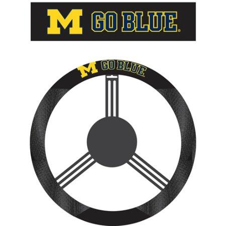 - NCAA Michigan Wolverines Poly-Suede Steering Wheel Cover