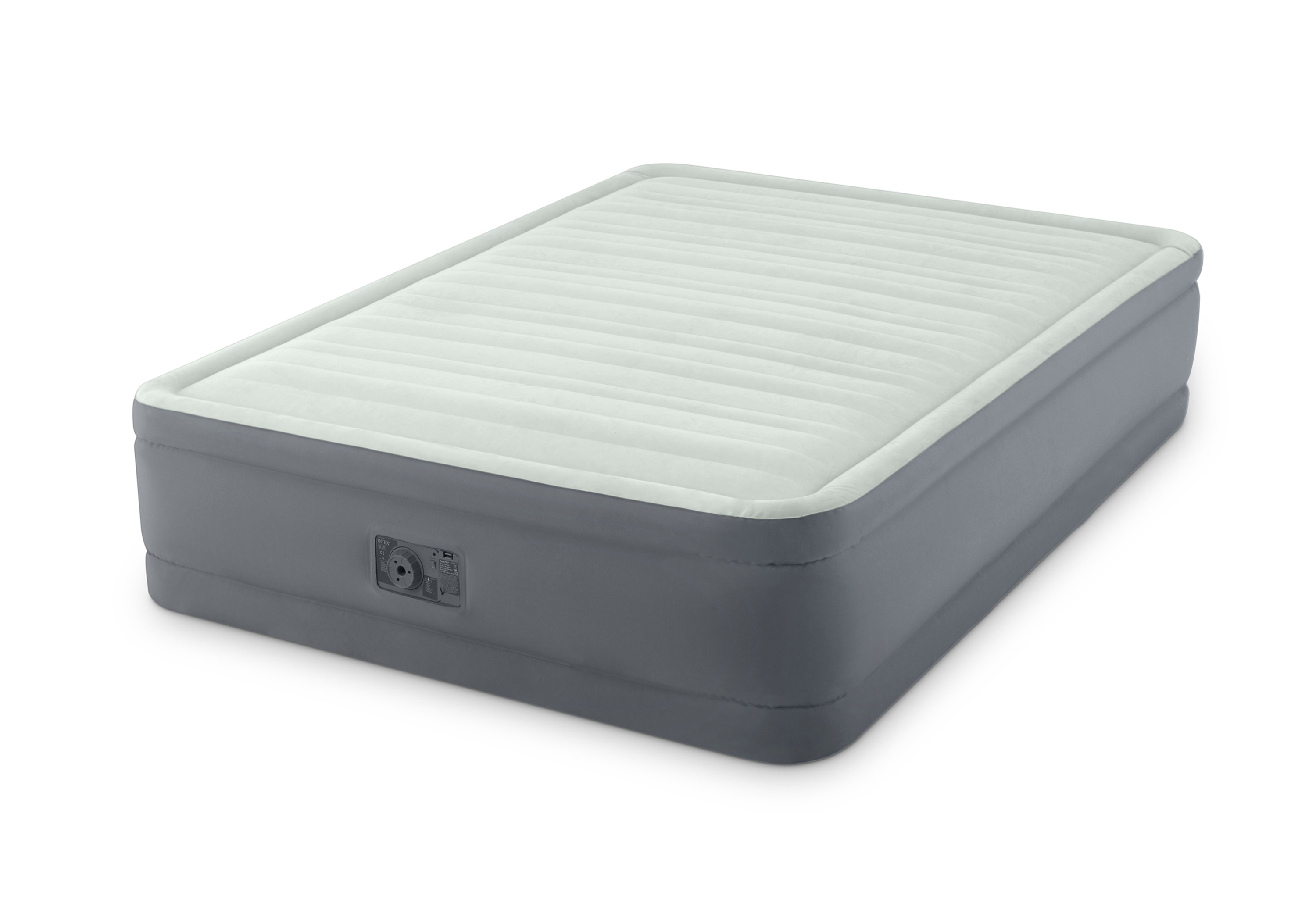 """Intex 18"""" Queen Dura Beam Premaire Elevated Airbed Mattress with Built-In Pump"""