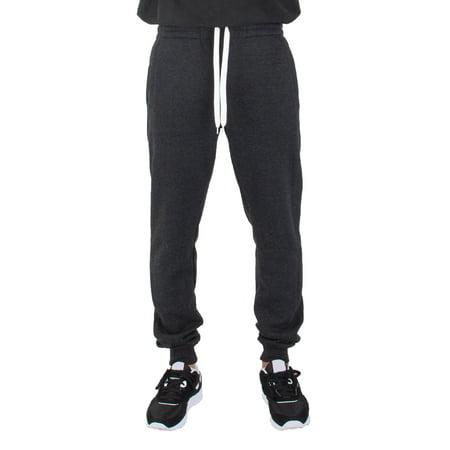 Shaka Wear Mens Slim Fit Medium Heavy Cotton Fleece Joggers Full Length Sweatpants (Best Slim Fit Sweatpants)