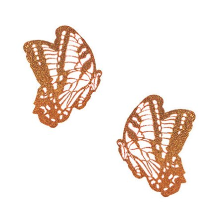 Neva Nude Butterfly Glitter Orange Pasty (The Real Housewives Of Orange County Nude)