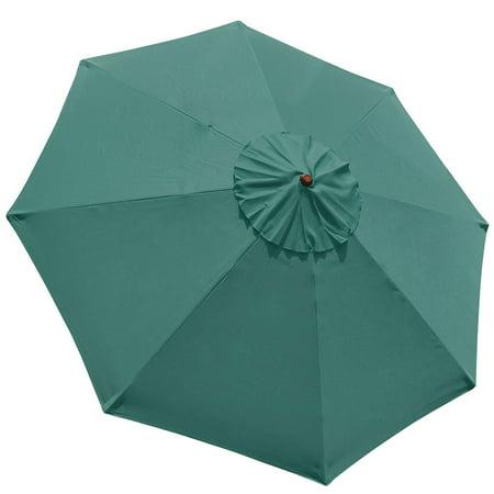 9' 8 Ribs Umbrella Canopy Replacement Patio Top Cover Market