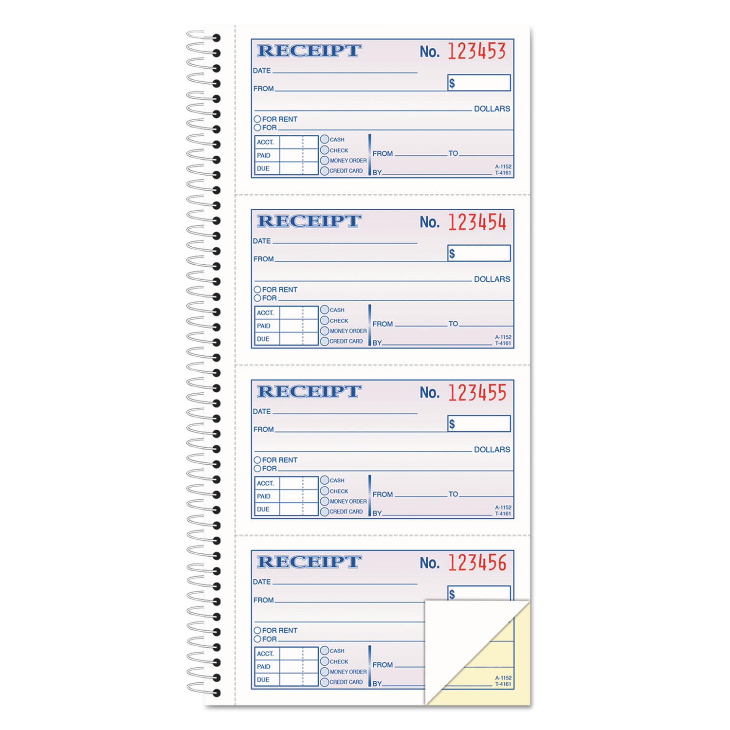 adams two part rent receipt book x carbonless  adams two part rent receipt book 2 3 4 x 4 3 4 carbonless 200 forms com