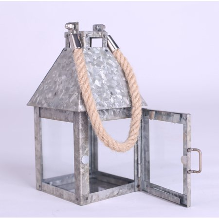 Better Homes & Gardens Outdoor Galvanized Lantern Candle Holder ()