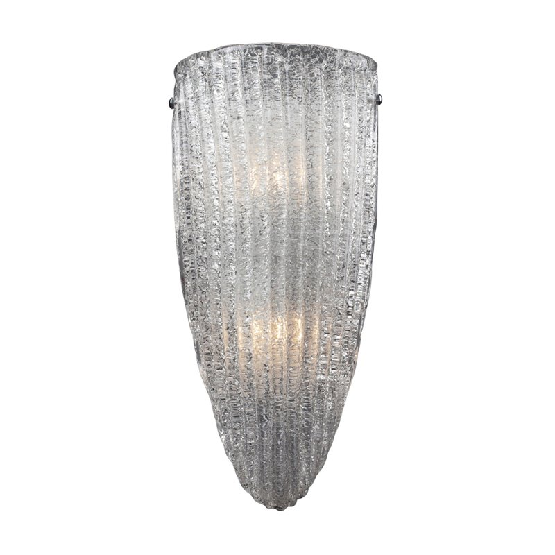 Elk Lighting Luminese 2 Light Wall Sconce in Satin Nickel