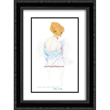 Raphael Kirchner 2x Matted 18x24 Black Ornate Framed Art Print (Raphael Fan)