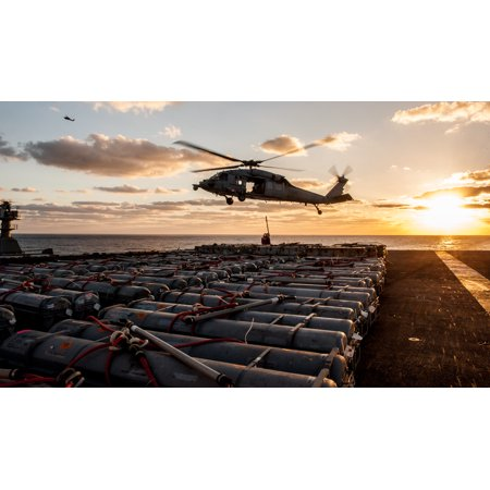 Laminated Poster An Mh 60S Sea Hawk From The Island Knights Of Helicopter Sea Combat Squadron  Hsc  25 Transports O Poster Print 24 X 36