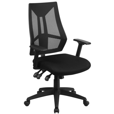 A Line Furniture Multifunction Black Swivel Office Chair With Triple Paddle Control (Multifunction Mechanism)