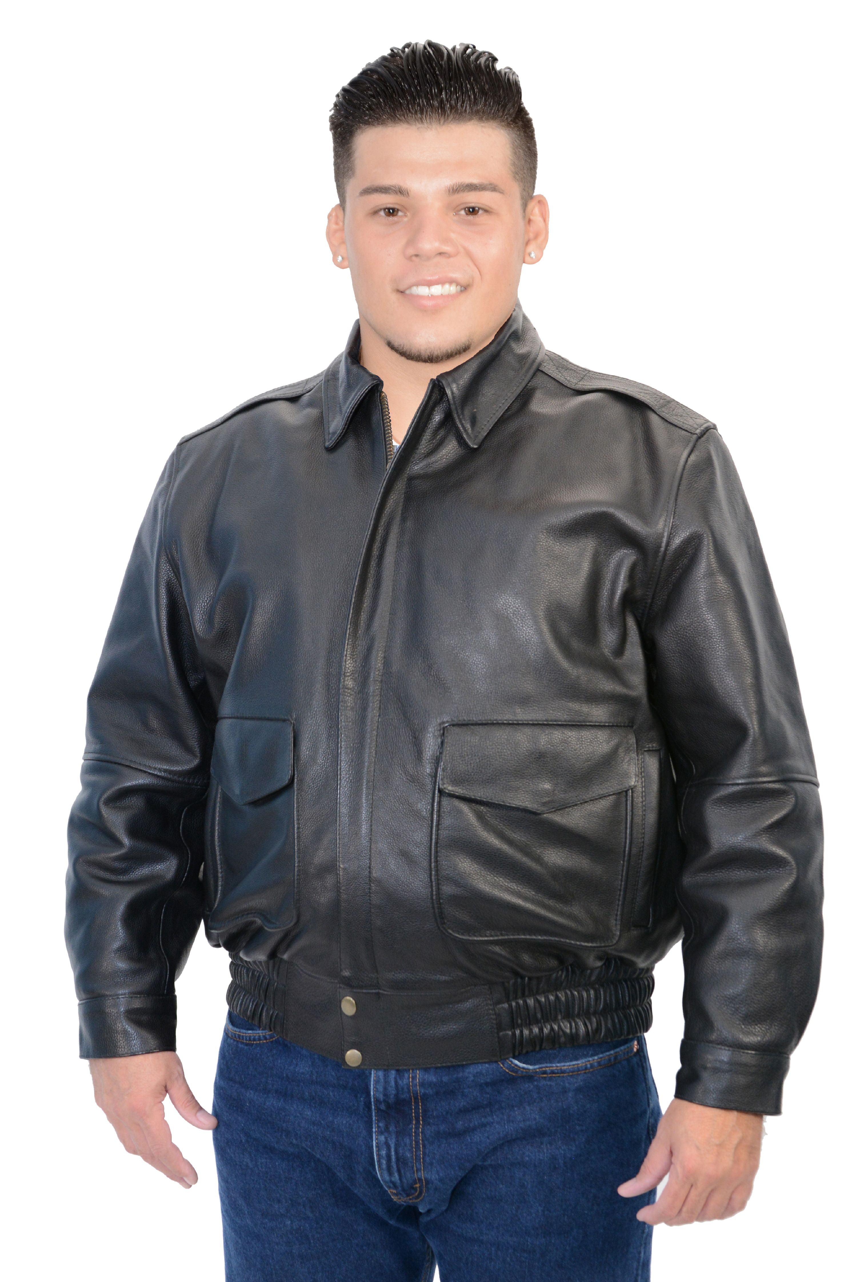 Milwaukee Leather Men/'s Classic Police Style M//C Jacket Big 3X  Black