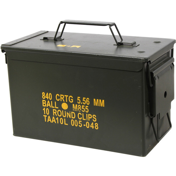 New Steel Ammo Box Military /& Army M2A1 for Long-Term Waterproof Ammunition /& Valuables Storage Solid Tactical 50 Cal Ammo Can