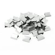 Unique Bargains 50 x Silver Tone Metallic Reusable Fast Clam Clip Dispenser Refills