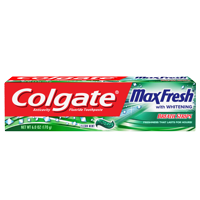 6-Pack Colgate MaxFresh Clean Mint Fresh Breath Whitening Toothpaste (6 oz)