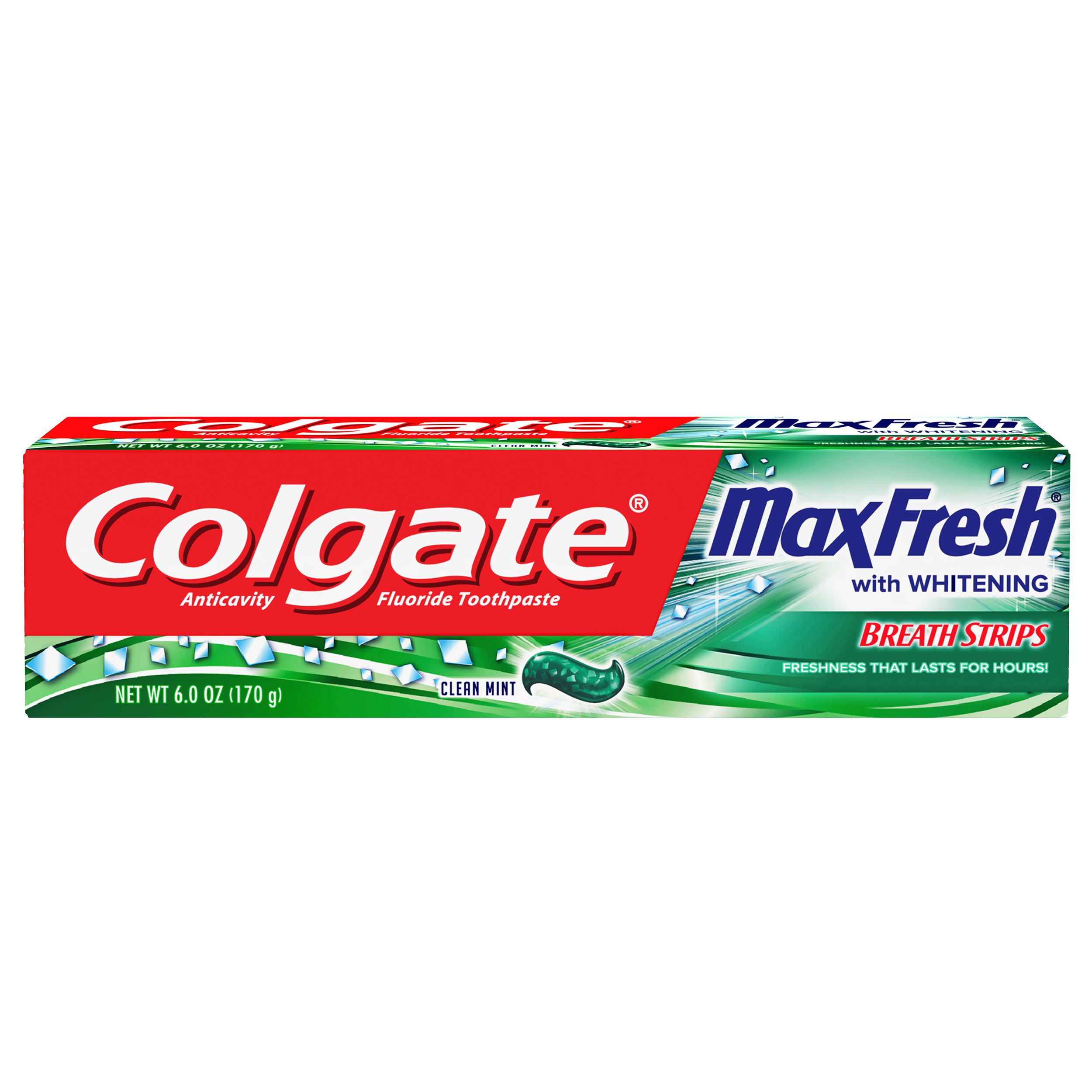 Colgate MaxFresh Clean Mint Fresh Breath Whitening Toothpaste, 6 oz