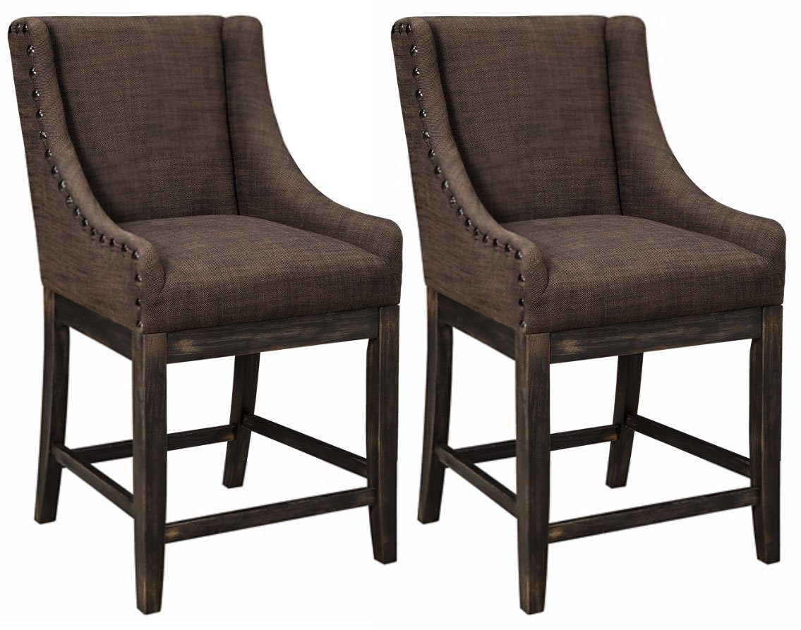 Charmant Ashley Furniture Signature Design   Vintage Casual Bar Stool   Wing Back  Style   Counter Height   Set Of 2   Dark Brown   Walmart.com