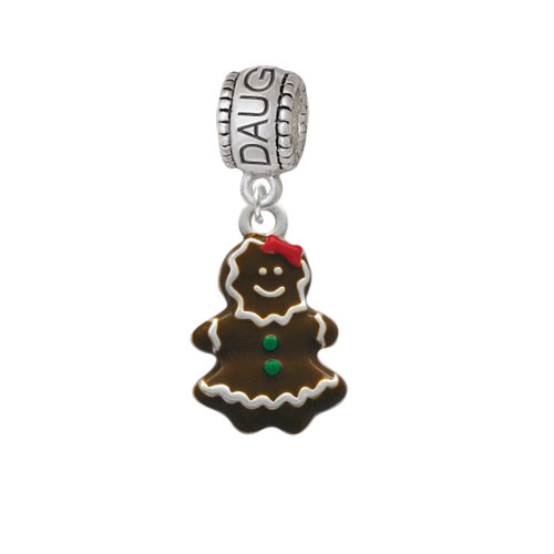 Enamel Gingerbread Girl - Daughter Charm Bead