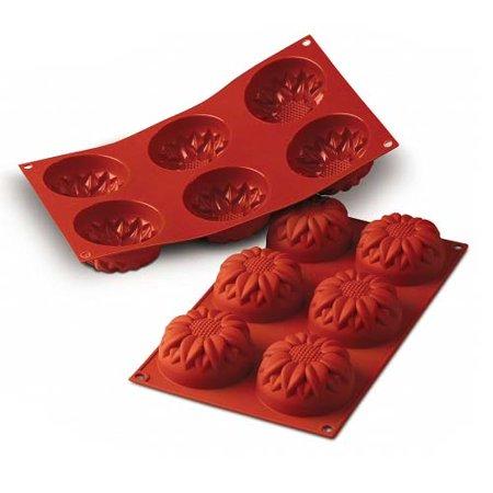 Sunflower Shape (Silikomart Silicone Bakeware Sunflower Shape Mold 3.89 Oz, 2.99