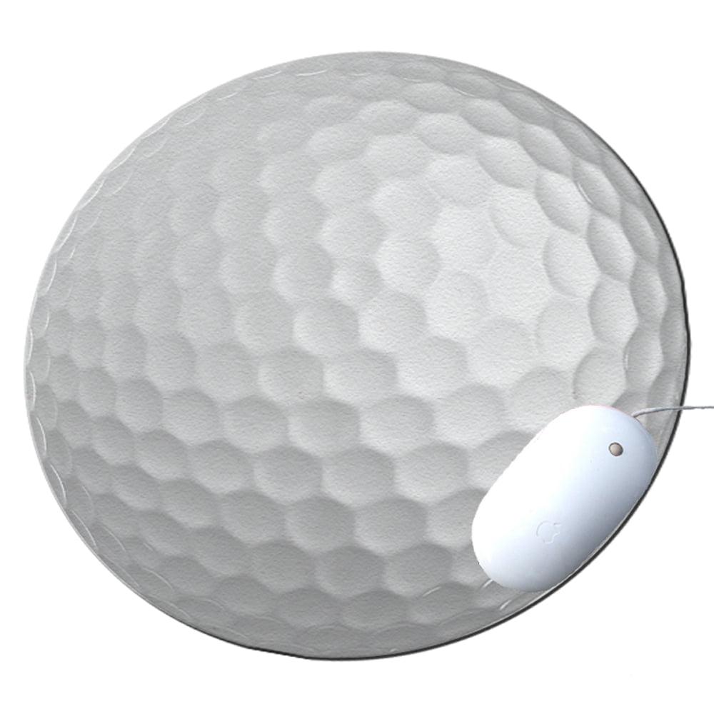 KuzmarK Round Mousepad / Hot Pad / Trivet - Golf Ball