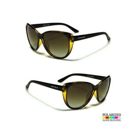 Yellow Cat Eye POLARIZED Sunglasses Retro Classic Vintage Design Women