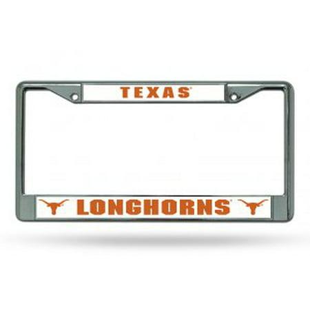 Texas Longhorns Chrome License Plate Frame
