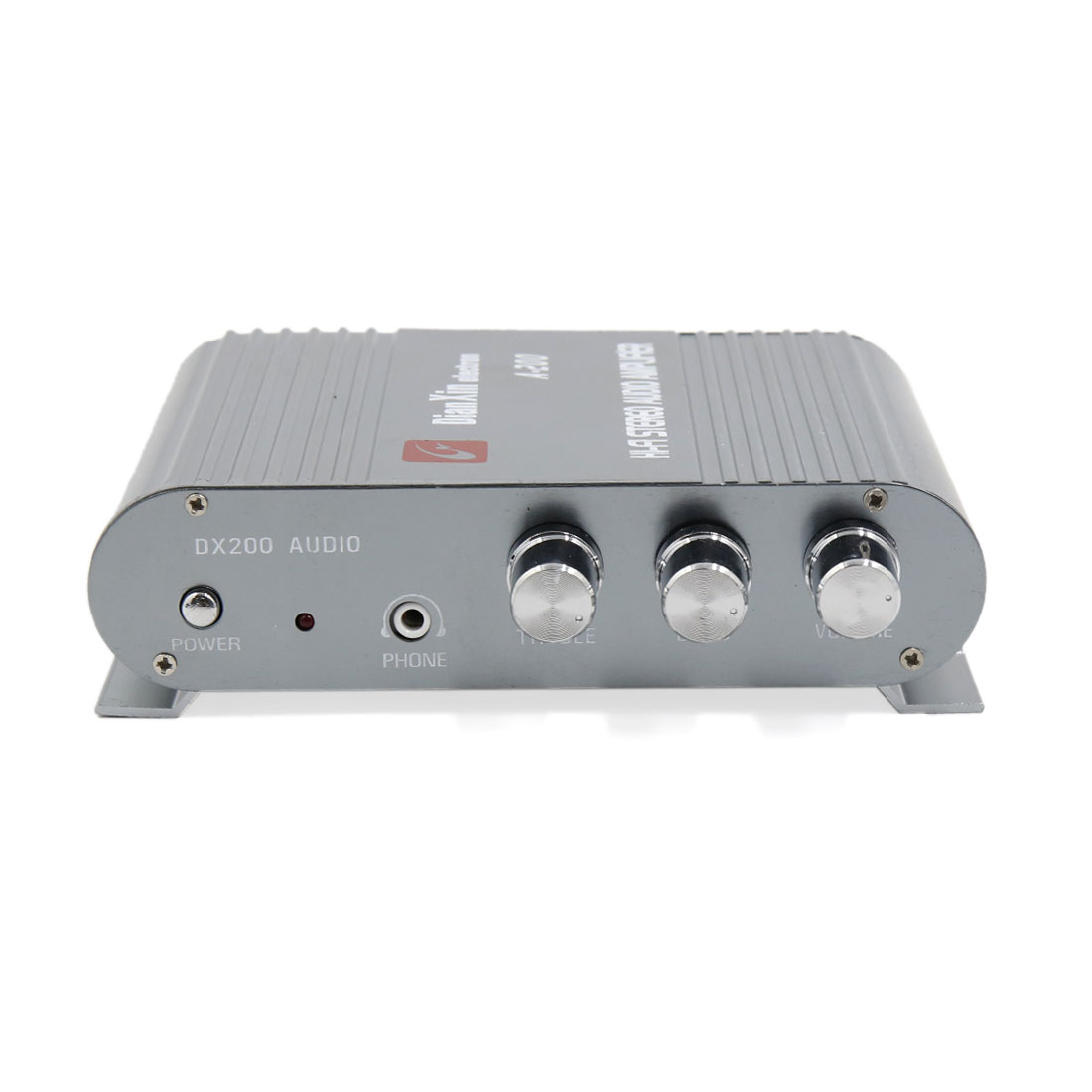 Universal Motorcycle Car 200w Mini Hi Fi Stereo Audio Power Amplifier Compatible With Tv 85db Gray