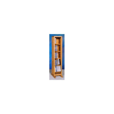 Dowel CD Storage Tower (Honey Oak)
