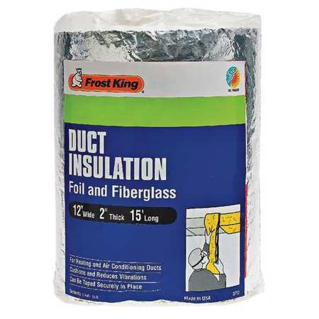 Duct Insulation,Fiberglass,15 ft. L FROST KING SP55/6