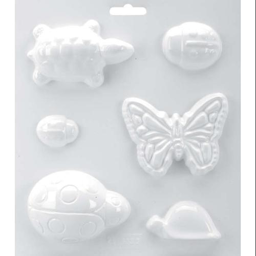 "Soapsations Soap Mold 8""X9""-2 Turtles/3 Ladybugs/Butterfly"