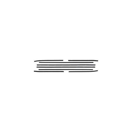 MACs Auto Parts  60-42784 Belt Weatherstrip Kit - Front Door & Rear Quarters - 8 Pieces - Ford Galaxie 500 & XL 2 Door Fastback