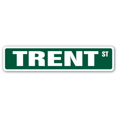 TRENT Street Sign Childrens Name Room Sign | Indoor/Outdoor |  24