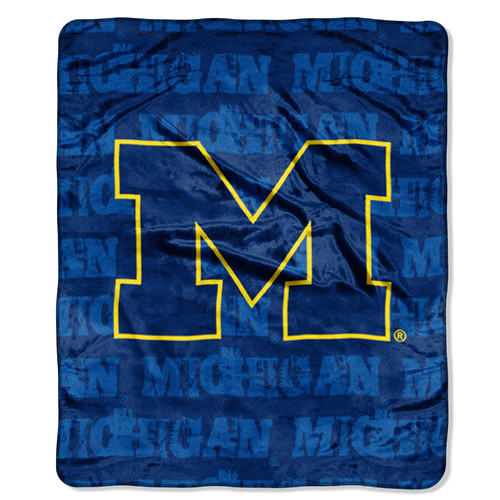 "Michigan Wolverines 46"" X 60"" Micro Raschel Throw Blanket -"
