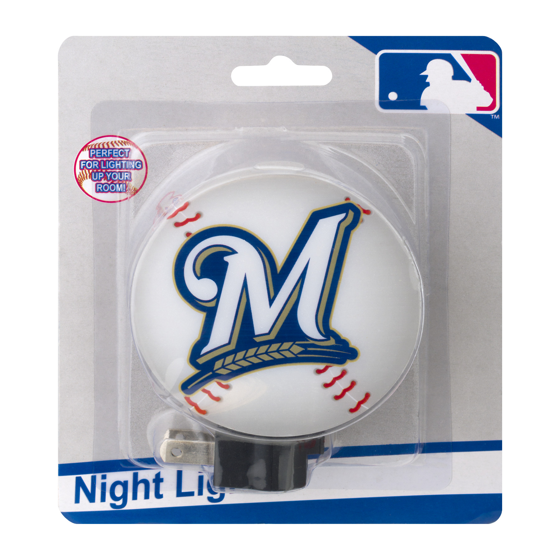 MLB Night Light Milwaukee Brewers, 1.0 CT