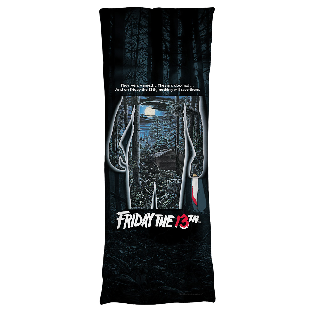 Friday The 13Th Poster Microfiber Body Pillow White 18X54