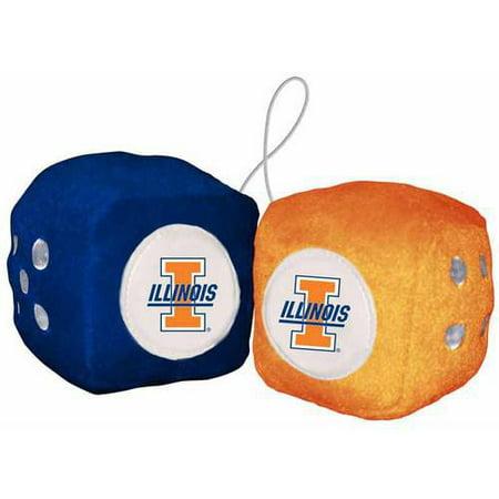 Ncaa Football Belt Buckle (NCAA Illinois Football Team Fuzzy Dice )