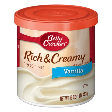 (12 Pack) Betty Crocker Rich and Creamy Vanilla Frosting, 16 (Best Chocolate Fudge Frosting)