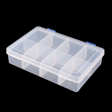 Plastique ménage 8 compartiments stockage conteneurs oreille bijoux claire Bo te - image 1 de 4