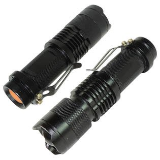 - 2-Pack Tactical CREE LED Flashlight 300 Lumen Ultra Bright Tiny Torch 3 Modes