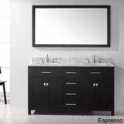VIRTU USA  Caroline 60-inch Double Sink Bathroom Vanity Set