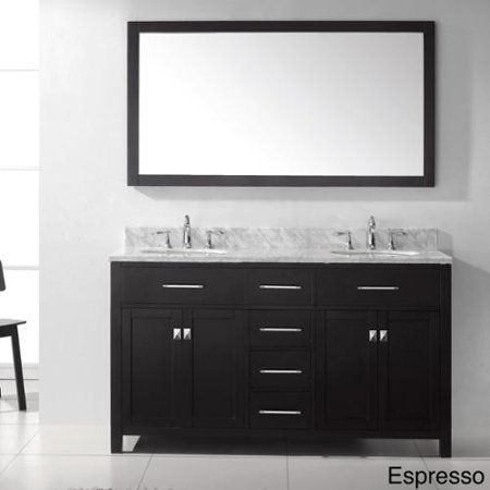 virtu usa caroline 60 inch double sink bathroom vanity set