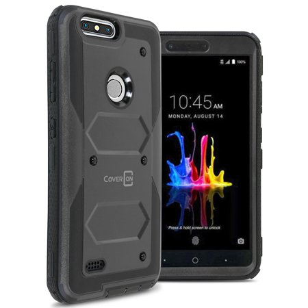 CoverON ZTE Blade Z Max / ZMax Pro 2 / Sequoia Case, Tank Series Hard Protective Armor Phone - Armor Pro Series