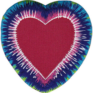 Patch - Tie Dye - Tie Dye Heart Iron On New Toys Licensed p-4396
